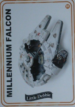 Little Debbie Rancho Obi-Wan Base Card 10 Millennium Falcon
