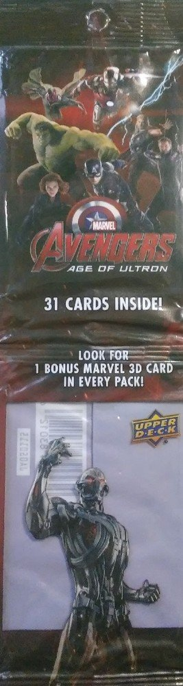 Upper Deck Marvel Avengers: Age of Ultron   Unopened Dual Retail Pack