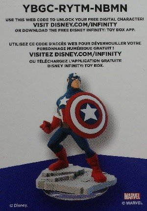SkyBox Disney Infinity 2.0 Base Card  Captain America