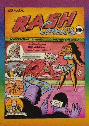 Active Marketing Defective Comics Base Card 6 Rash Comics No. 1