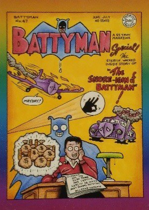 Active Marketing Defective Comics Base Card 13 Battyman No. 47