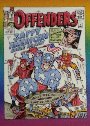 Active Marketing Defective Comics Base Card 29 The Offenders No. 4