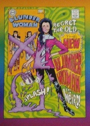 Active Marketing Defective Comics Base Card 33 The New Blunder Woman No. 178