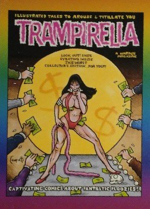Active Marketing Defective Comics Base Card 34 Trampirella