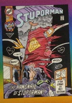 Active Marketing Defective Comics Base Card 50 Stuporman No. 75