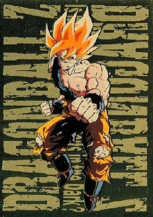Artbox Dragon Ball Z Trading Cards Series 3 Gold Metallic Card G-4 Super Saiyan Goku (Battle Damaged)