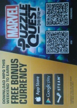 Disney Marvel Puzzle Quest Promos  Dark Reign under logo