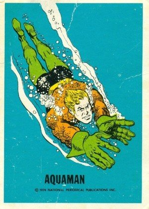 Wonder Bread DC Heroes/Warner Bros DC Heroes Card  Aquaman