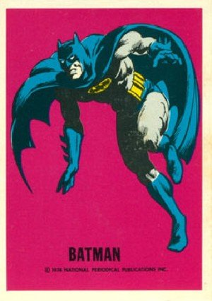 Wonder Bread DC Heroes/Warner Bros DC Heroes Card  Batman