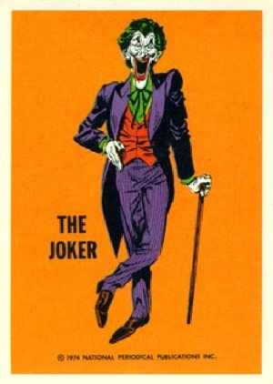 Wonder Bread DC Heroes/Warner Bros DC Heroes Card  Joker