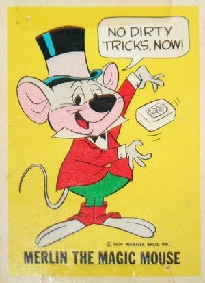 Wonder Bread DC Heroes/Warner Bros Warner Bros Character Card  Merlin the Magic Mouse