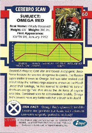 Impel X-Men Series I Base Card 60 Omega Red