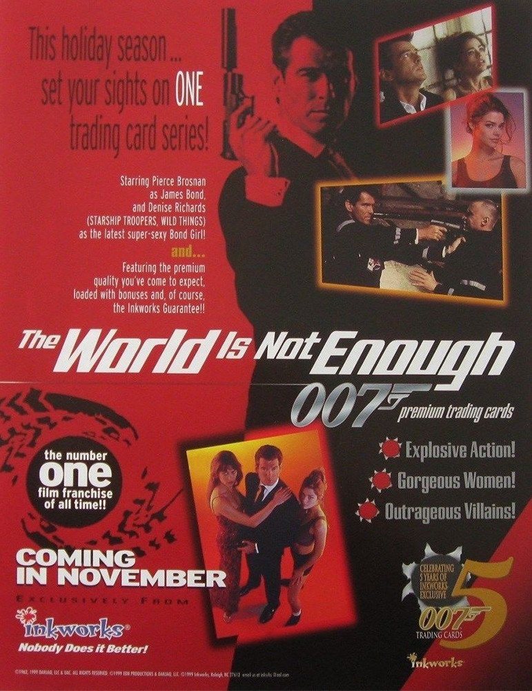 Inkworks James Bond: The World Is Not Enough   Dealer Sell Sheet