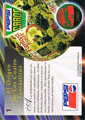 Marvel Comics Marvel Pepsi Cards Base Card 1 la Mole