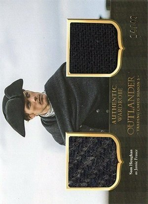 Cryptozoic Outlander Trading Cards Season 3 Dual Wardrobe Card DM5 Sam Heughan as Jamie Fraser