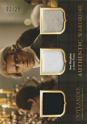 Cryptozoic Outlander Trading Cards Season 3 Triple Wardrobe Card TM2 Sam Heughan as Jamie Fraser