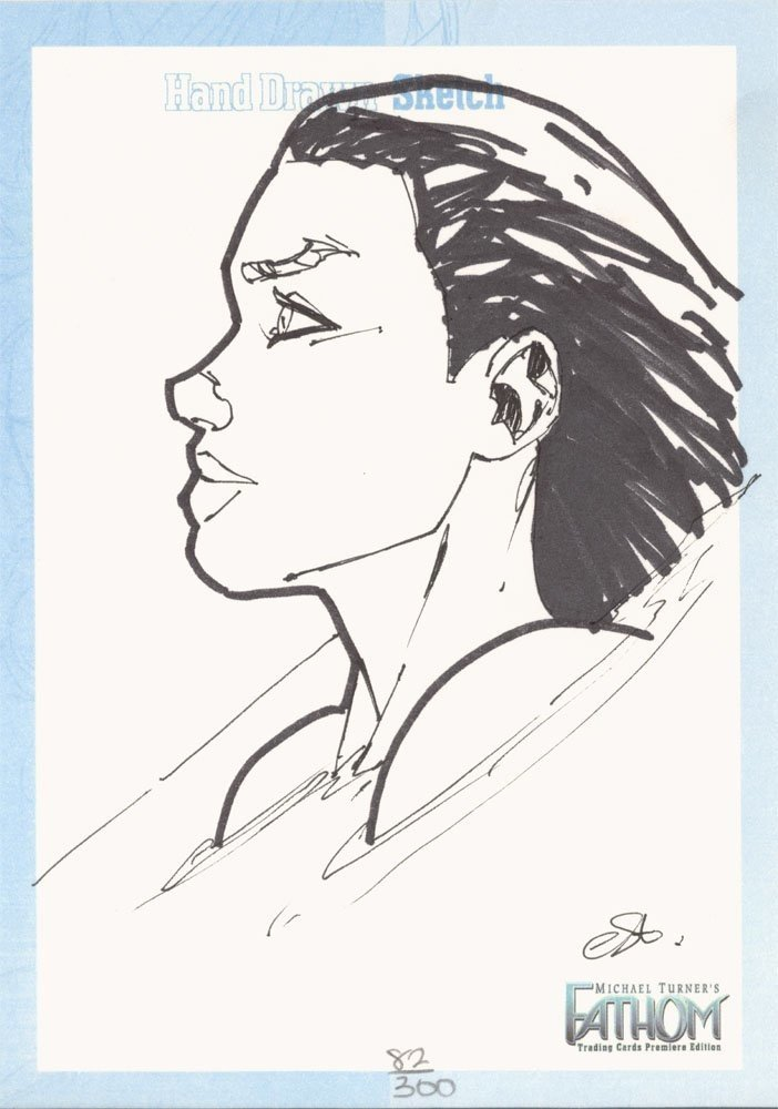 Dynamic Forces Fathom Jumbo Sketch Card  Talent Caldwell (300)