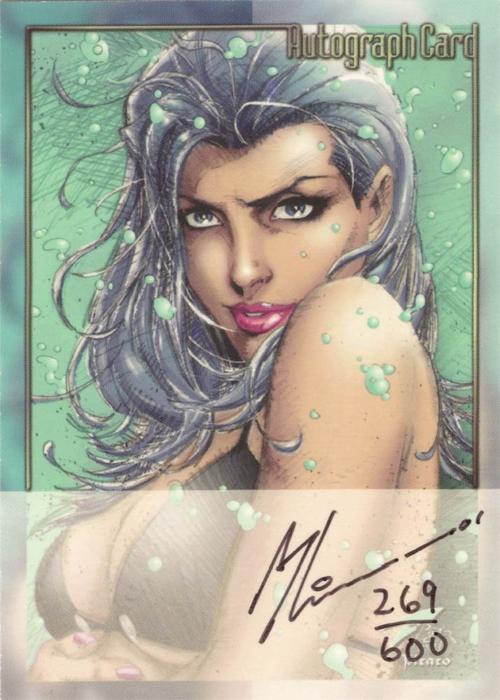 Dynamic Forces Fathom Autograph Card  Art Thiebert