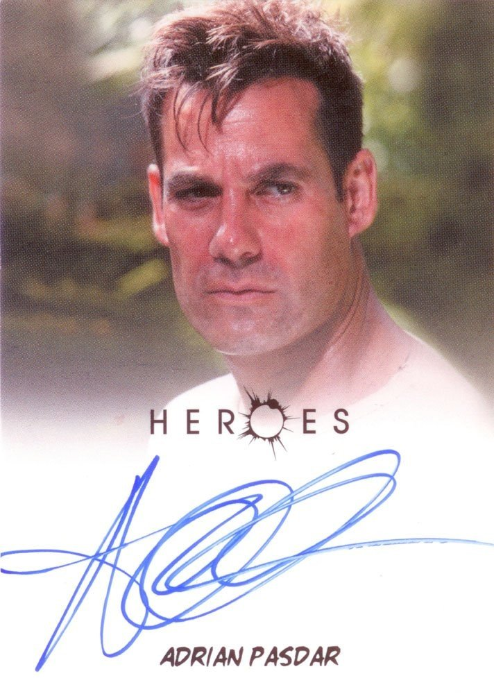 Rittenhouse Archives Heroes Archives Autograph Card  Adrian Pasdar as Nathan Petrelli