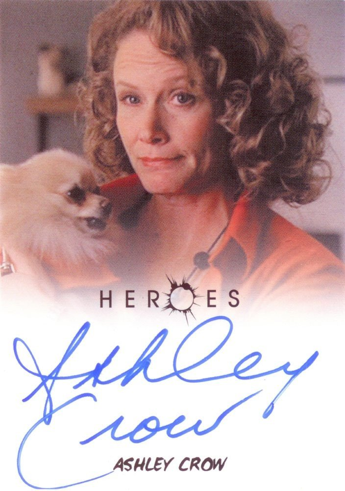 Rittenhouse Archives Heroes Archives Autograph Card  Ashley Crow as Sandra Bennet