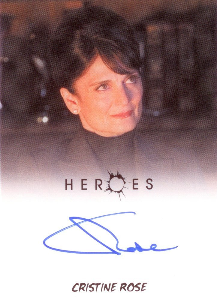 Rittenhouse Archives Heroes Archives Autograph Card  Cristine Rose as Angela Petrelli