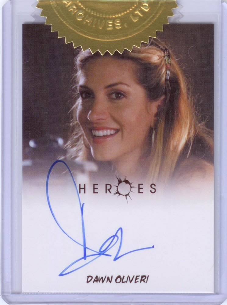 Rittenhouse Archives Heroes Archives Autograph Card  Dawn Olivieri as Lydia (Case Topper)
