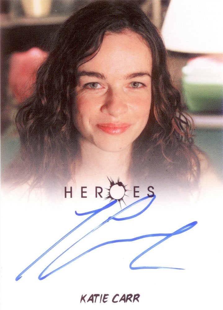 Rittenhouse Archives Heroes Archives Autograph Card  Katie Carr as Caitlin