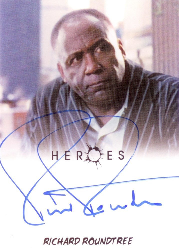 Rittenhouse Archives Heroes Archives Autograph Card  Richard Roundtree as Charles Deveaux