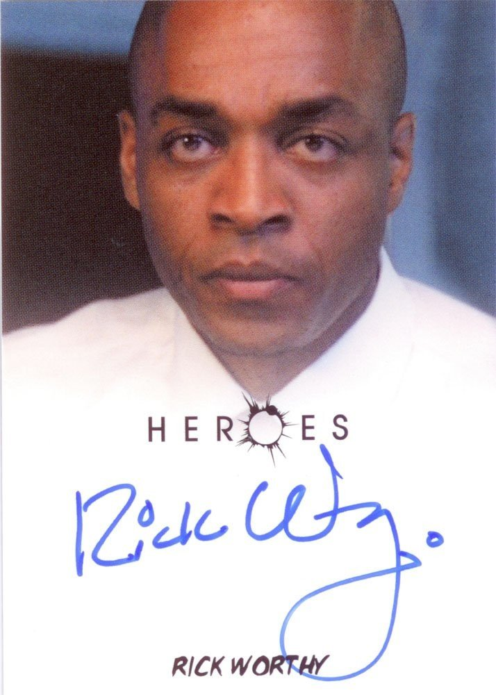 Rittenhouse Archives Heroes Archives Autograph Card  Rick Worthy as Mike