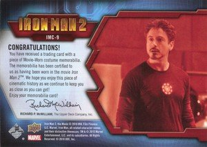 Upper Deck Iron Man 2 Memorabilia Card IMC-9 Tony Stark