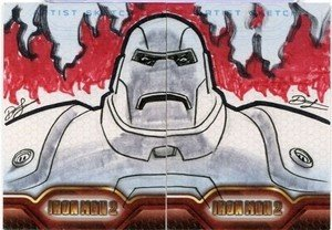 Upper Deck Iron Man 2 Artist Sketch Card  Dietrich Smith