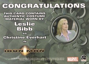 Rittenhouse Archives Iron Man Movie Cards Costume Card  Leslie Bibb as Christine Everhart
