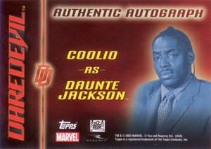 Topps Daredevil Movie Cards Autograph Card  Coolio as Daunte Johnson