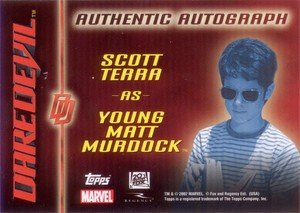 Topps Daredevil Movie Cards Autograph Card  Scott Terra as Young Matt Murdock