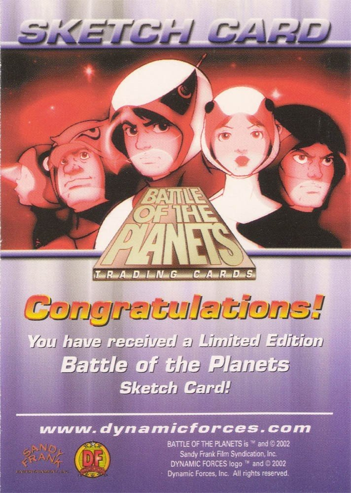 Dynamic Forces Battle of the Planets Sketch Card  Angel Medina