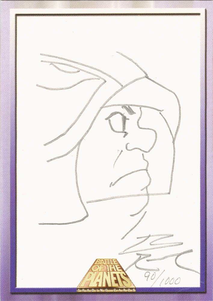 Dynamic Forces Battle of the Planets Sketch Card  Brian Rood (1000)