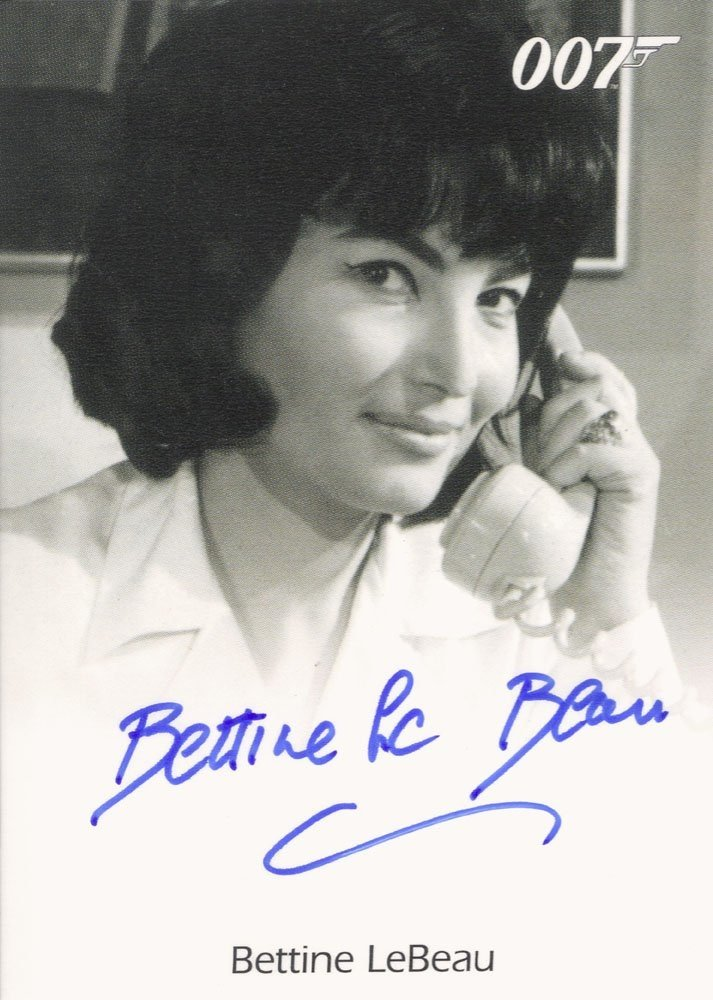 Rittenhouse Archives James Bond: Heroes and Villains Autograph Card  Bettine LeBeau as Professor Dent's Secretary in Dr. No