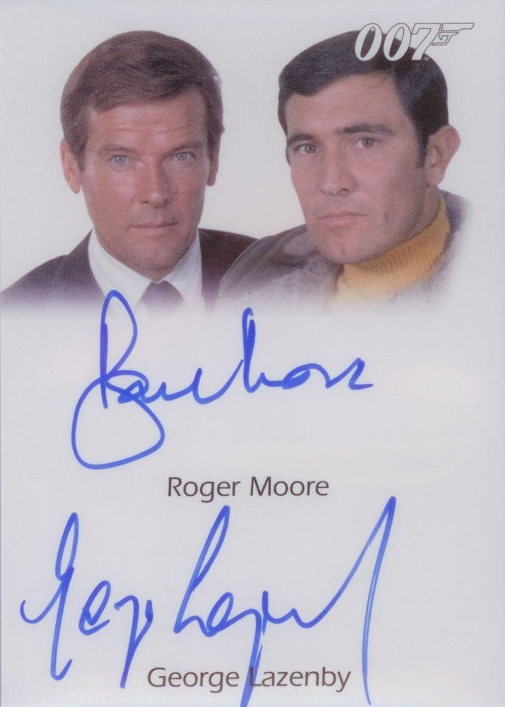 Rittenhouse Archives James Bond: Heroes and Villains Autograph Card  Roger Moore and George Lazenby