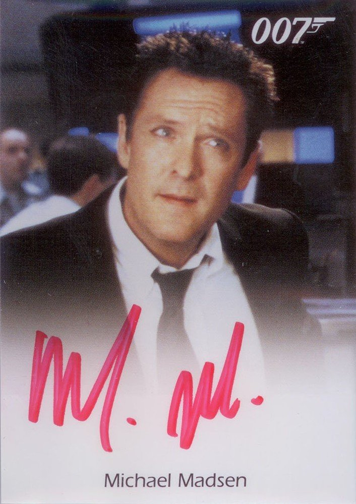 Rittenhouse Archives James Bond: Mission Logs Autograph Card  Michael Madsen as Falco in Die Another Day