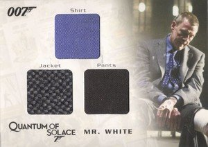 Rittenhouse Archives James Bond Archives Relic Card QC11 Mr. White's Shirt, Jacket & Pants - Triple Costume (625)