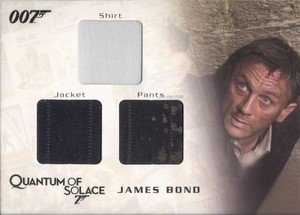 Rittenhouse Archives James Bond Archives Relic Card QC12 James Bond's Shirt, Jacket & Pants - Triple Costume (675)