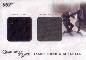 Rittenhouse Archives James Bond Archives Relic Card QC15 James Bond's Pants & Mitchell's Jacket - Dual Costume (850)