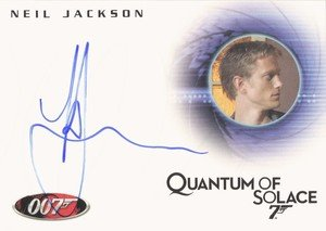 Rittenhouse Archives James Bond Archives Autograph Card A122 Neil Jackson as Mr. Slate