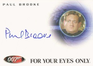 Rittenhouse Archives James Bond Archives Autograph Card A126 Paul Brooke as Bunky
