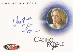 Rittenhouse Archives James Bond Archives Autograph Card A129 Christina Cole as Club Receptionist