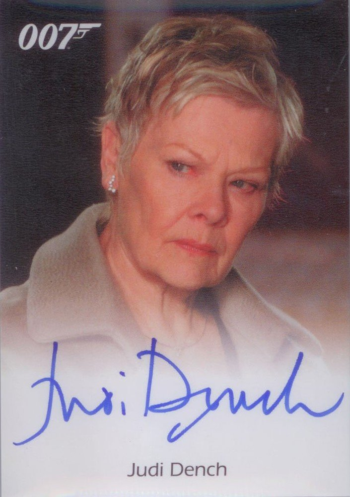 Rittenhouse Archives James Bond Archives Autograph Card  Judi Dench as M