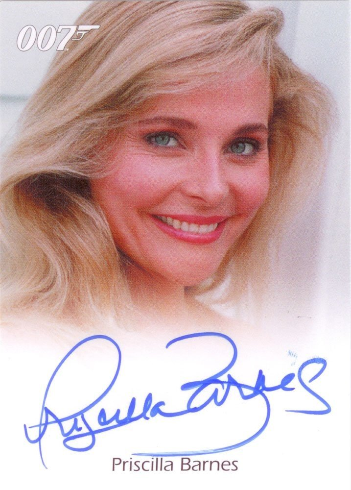 Rittenhouse Archives James Bond Archives Autograph Card  Priscilla Barnes as Della Churchill