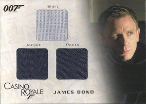 Rittenhouse Archives James Bond In Motion Costume Card TC01 James Bond Shirt, Jacket & Pants  from Casino Royale