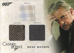 Rittenhouse Archives James Bond In Motion Costume Card TC04 Rene Mathis' Shirt, Jacket & Pants  from Casino Royale