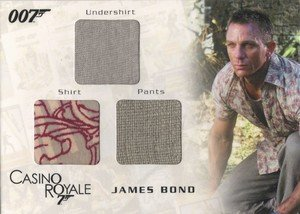 Rittenhouse Archives James Bond In Motion Costume Card TC05 James Bond's Undershirt, Shirt & Pants from Casino Royale
